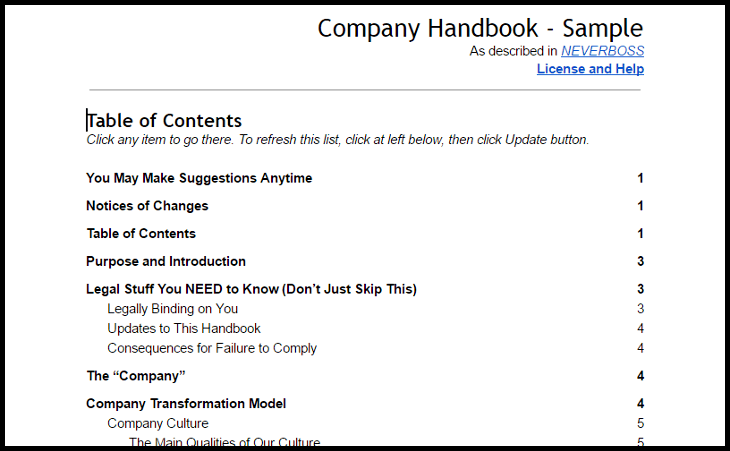 Company Handbook and Bullying Policy for Hands-Off Leadership