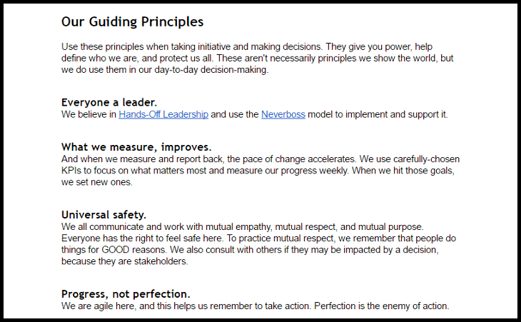 Guding Principles collaborative template for your oarganization