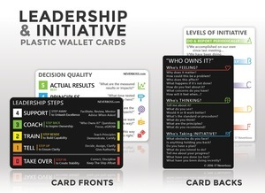 Neverboss™ Leadership Steps™ and Initiative Wallet Cards