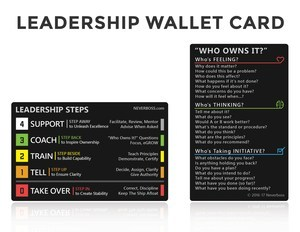 Neverboss™ Leadership Steps™ Wallet Card