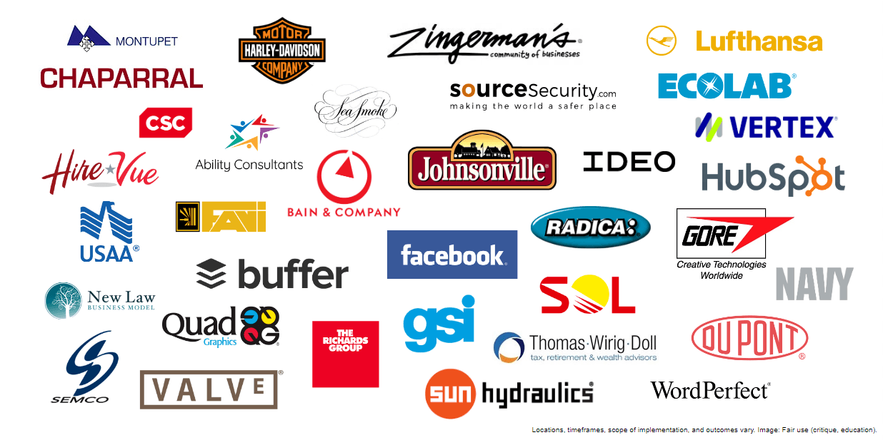 Companies that tried liberating leadership models